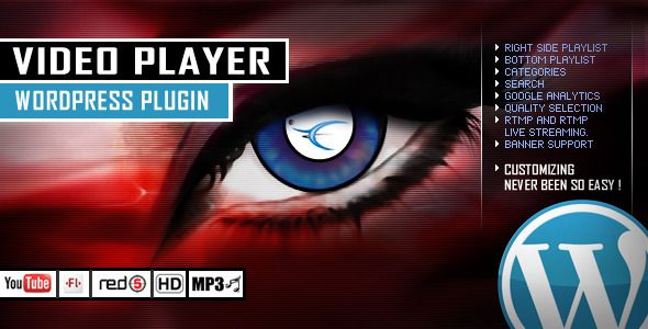 Video Player Wordpress Plugin - YouTube/FLV/H264  #codecanyon