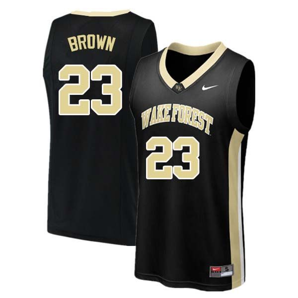 pick up b4f22 f9069 Men #23 Chaundee Brown Wake Forest Demon Deacons College ...