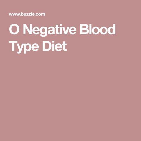 type o blood type diet pdf