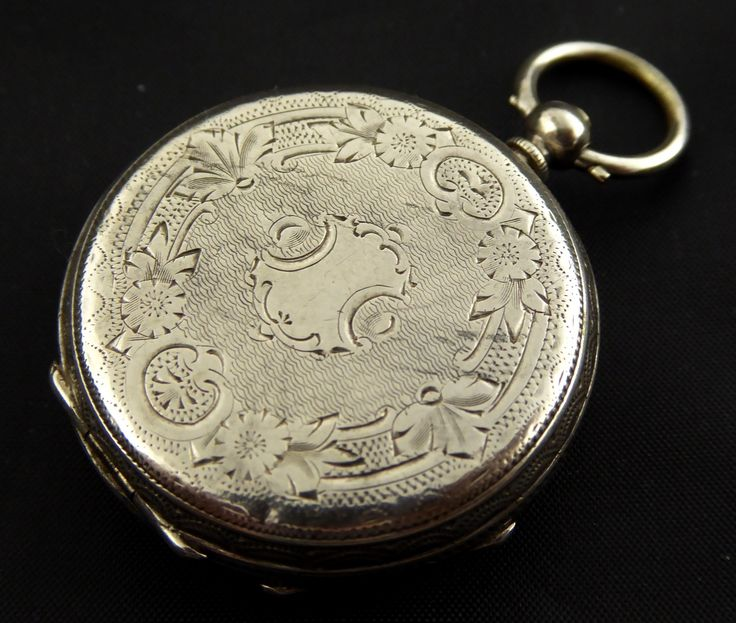 Late 1800s Antique .800 Swiss Hallmarked Silver Pocket Watch Needs Work - The Collectors Bag