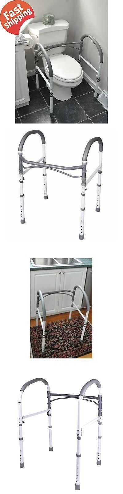 Other Accessibility Fixtures: Handicap Toilet Rails Bathroom Safety Equipment Aid Support Health Grab Mobility BUY IT NOW ONLY: $85.4