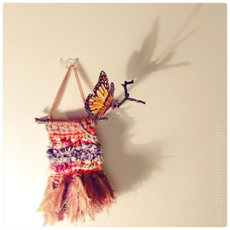 Wall hanging & butterfly handmade by Sarah Keane Designs! Loving the shadow