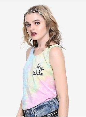 Stay Weird Pastel Tie Dye Girls Tank Top | Hot Topic