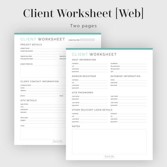 Client Worksheet Web Design Fillable Printable Pdf Web Etsy Web Design Tips Web Design Web Design Quotes