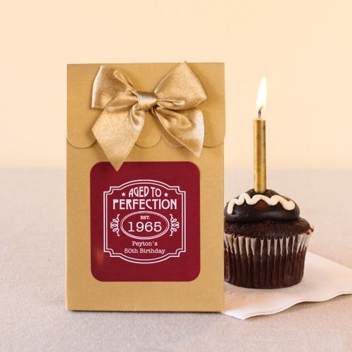 Personalized Milestone Birthday Candy Bags by Beau-coup