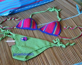 Items similar to Teal Hand Crochet Shorts Hot Pants - Beachwear Resort Bikini Bathing Suit Cover Up - Handmade In Chile on Etsy