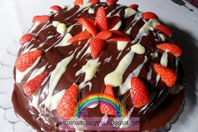 Arco-íris na Cozinha: Bolo de Chocolate Zebra com Morangos
