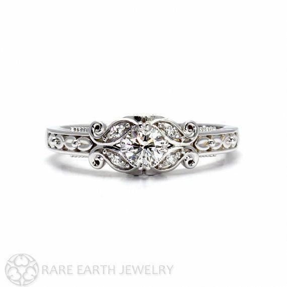 Unique Wedding Ring 1800 Uniqueweddingring Black Diamond Engagement Ring Set Vintage Style Rings Diamond Engagement Rings Vintage