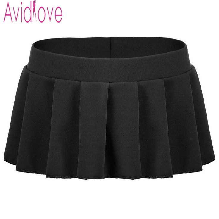 Avidlove Brand Women Sexy Mini Skirts Casual Solid Pleated Micro Skirt Sexy Summer Short Skirts Black White Pink Blue Plus Size >>> Details can be found by clicking on the image.