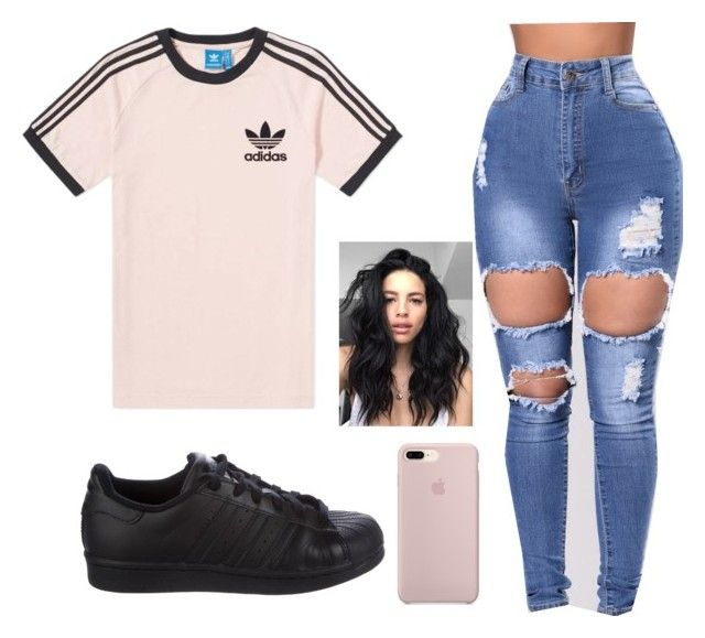 """"""""""" by marianafs ❤ liked on Polyvore featuring adidas"""