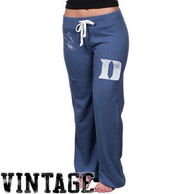 Duke Blue Devils Womens Relaxed Sweatpants - Duke Blue