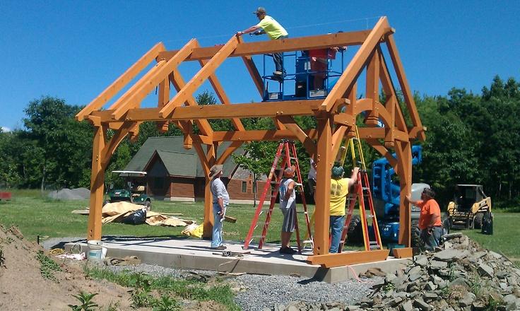 Easy To Install Timber Frame Pavilion Kits Timber Frame Pavilions Pinterest