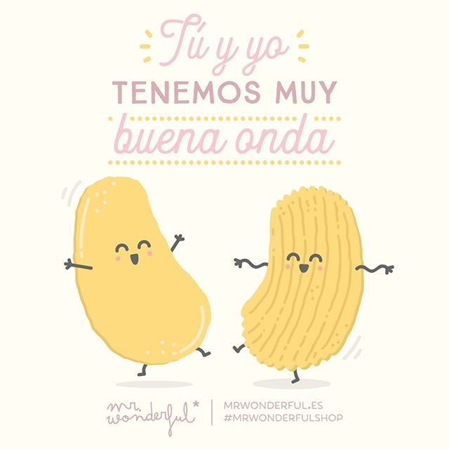 Qué bien nos llevamos tú y yo ;) You and me are on the same wavelength. We get on so well together, you and me ;) #mrwonderfulshop #quotes