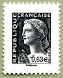 Marianne de Decaris La Vème République au fil du timbre - Timbre de 2013