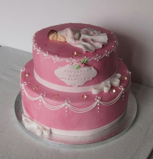 Christeningcake for a little princess