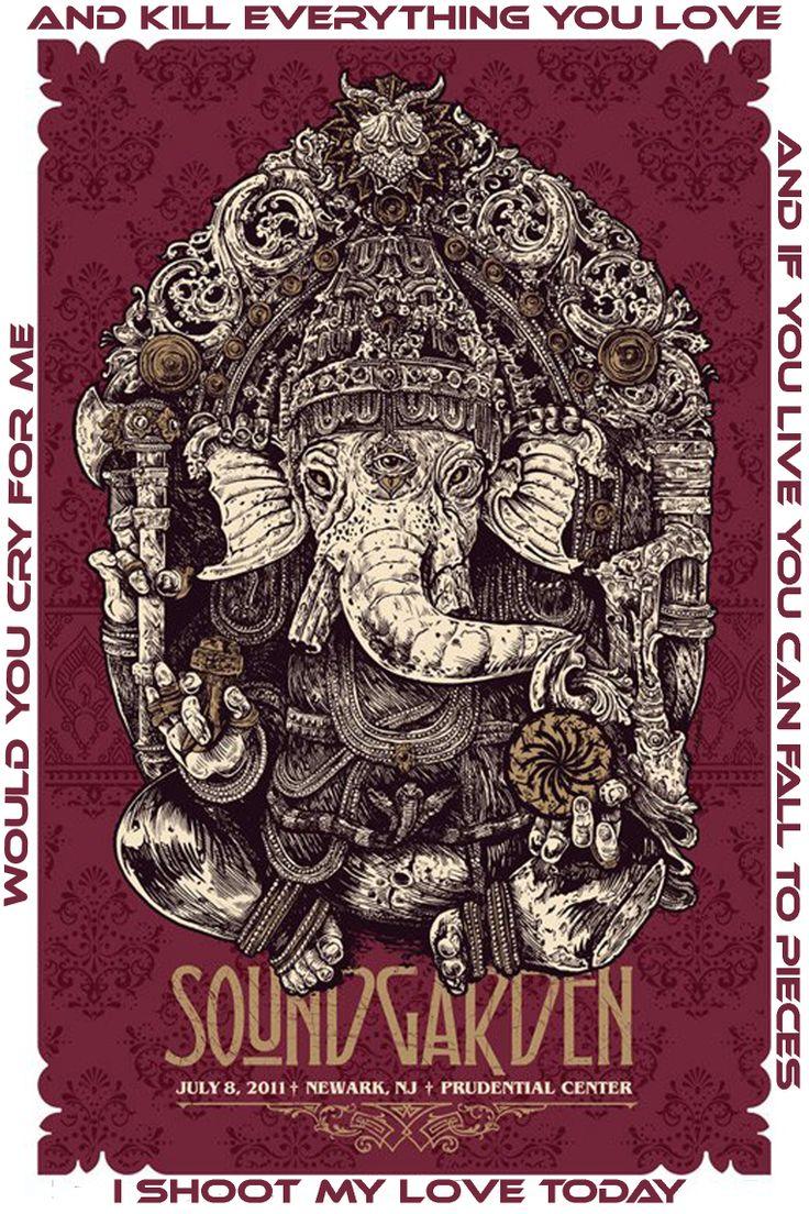 Poster design history - Soundgarden In Newark Nj July Ganesha Poster By Angryblue Justin Kamerer