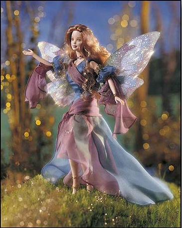 Fairy of the Forest Barbie: In a world of visions and gossamer dreams in fields steeped with mischief and magic moonbeams, some say the fairies dwell.