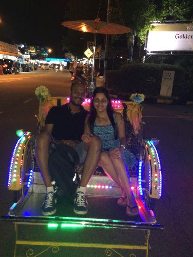 Trishaw ride on Batu Ferringhi, Penang, Malaysia