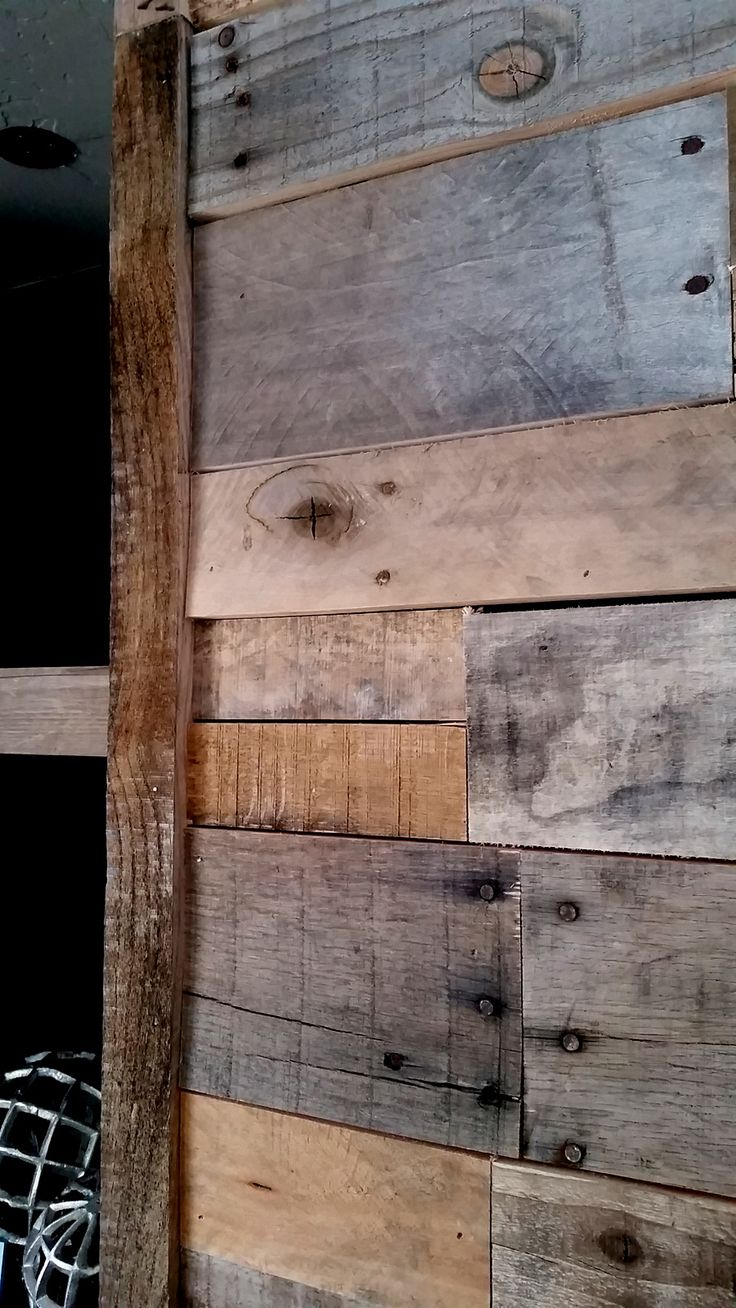 261 best images about reclaimed wood walls on pinterest for Reclaimed pallet wood wall