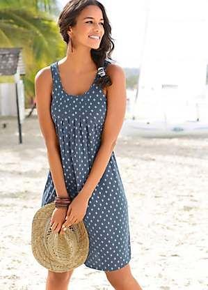 blue beach dress by beachtime