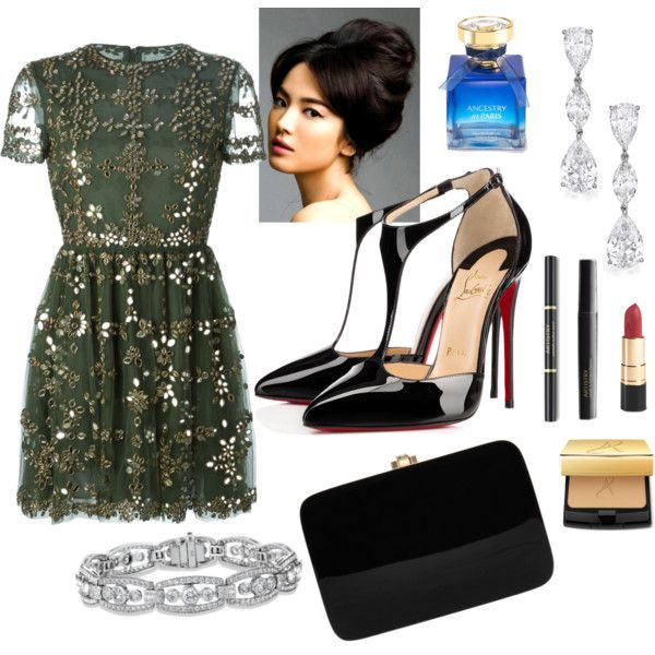 Ready for the Opera by veradediamant on Polyvore featuring polyvore, moda, style, Valentino, Christian Louboutin and Rocio