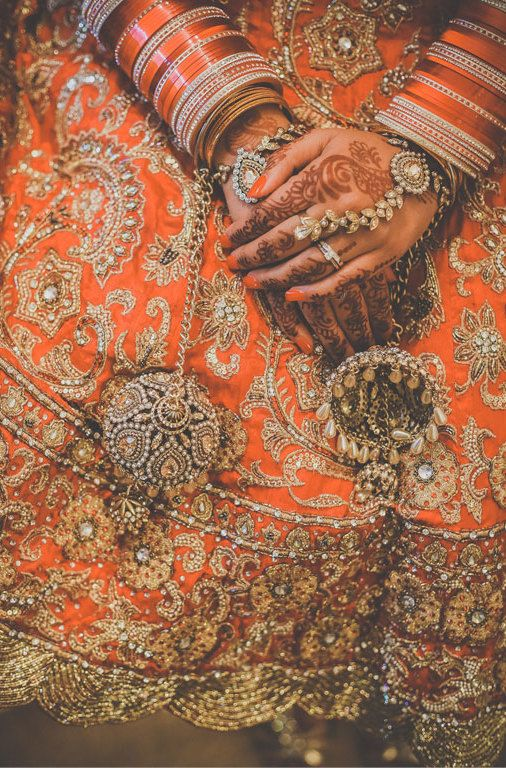 Orange bridal Lehenga. Bridal Lehenga.  Indian weddings