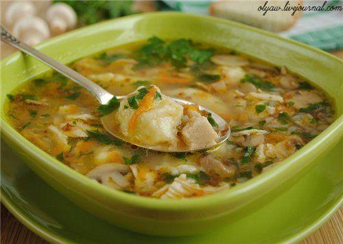 Гречневый суп с грибами и картофельными клёцками. Обсуждение на LiveInternet - Российский Сервис Онлайн-Дневников