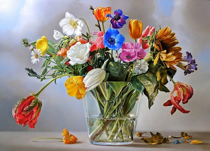 """FlowerPower""  130 x 180 cm oil / linen 2013 - © Tjalf Sparnaay"