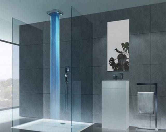 Regadera De Baño Moderna:Waterfall Showers Bathroom Designs
