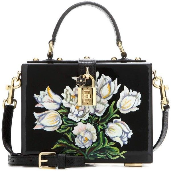 Dolce & Gabbana Dolce Box Painted Wooden Shoulder Bag (407,955 INR) ❤ liked on Polyvore featuring bags, handbags, shoulder bags, black, shoulder hand bags, shoulder bag purse, wood handbag, shoulder handbags and wooden purse