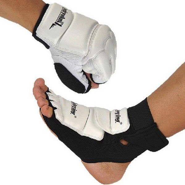 Exercise Karate Sparring Fitness Taekwondo Sport Gloves Foot Protective Gear Set #xinluyin