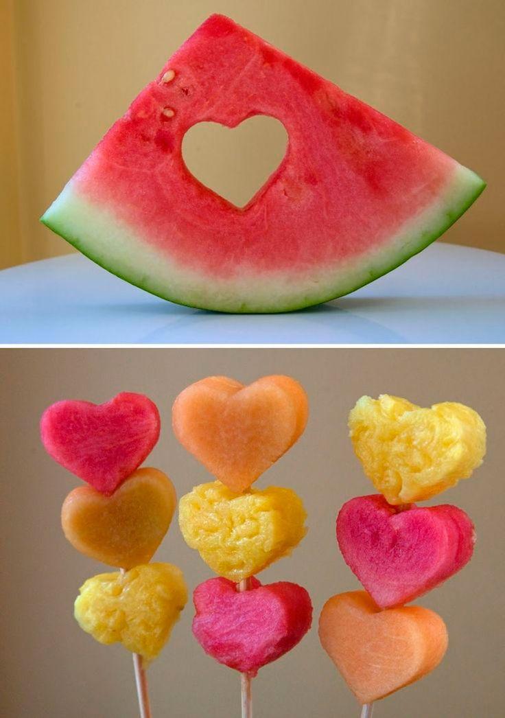 melancia de coração