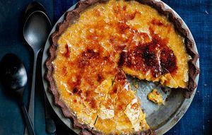 Bruleed Bourbon-Maple Pumpkin Pie