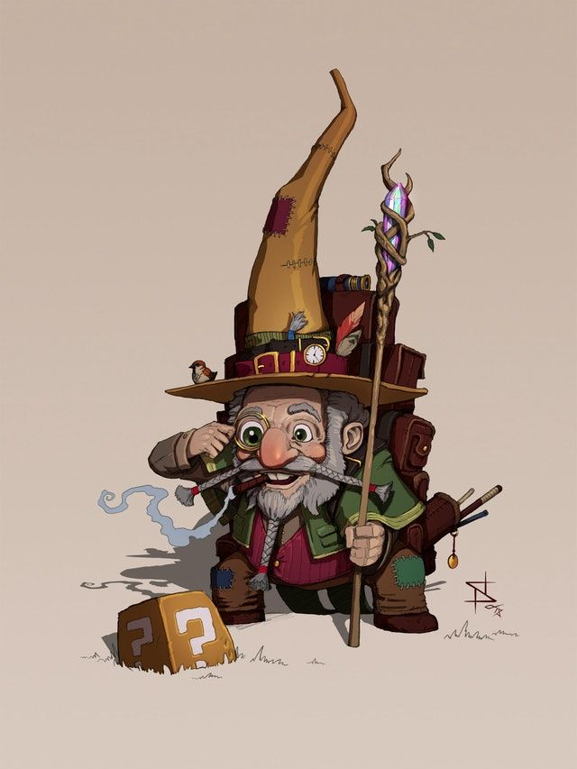 Art Gnome Sorcerer Dnd With Images Dungeons And Dragons