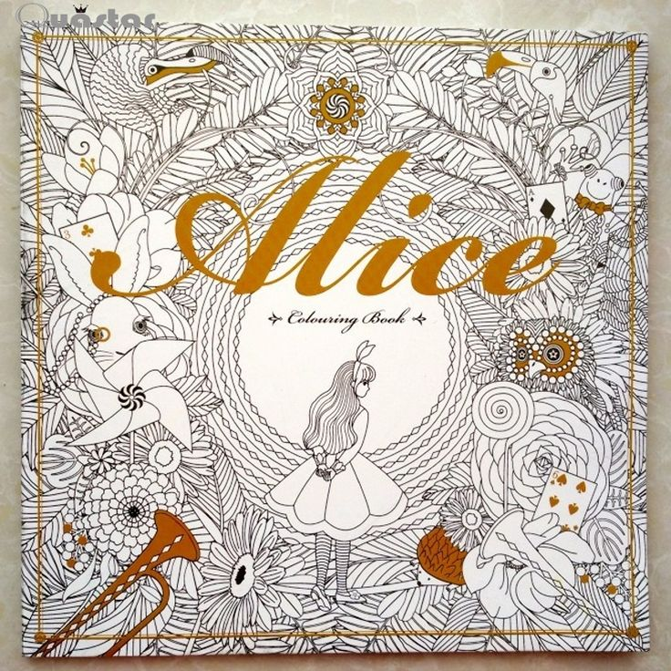 Aliexpress Buy 96 Pages Alice In Wonderland Colouring Book For Adult Relieve Stress