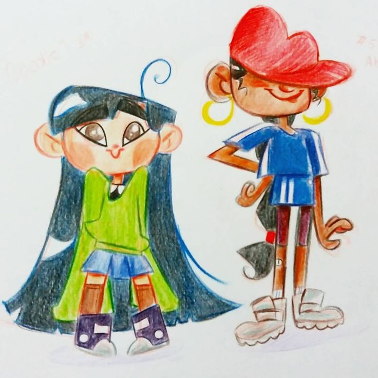 Busy day so just a #nostalgic #sketch of #abgail and #cookie from #knd ☆ _____________________________________#kidsnextdoor #number3 #number5 #cartoonnetwork #codenamekidsnextdoor #aturmadobairro #lids #cartoon #characterredesign #characterdesign #art #illustration #girls #colorful #colorpencil #traditionalart #cute #friends #agents #hero #drawing #sketchbook #giullyleao