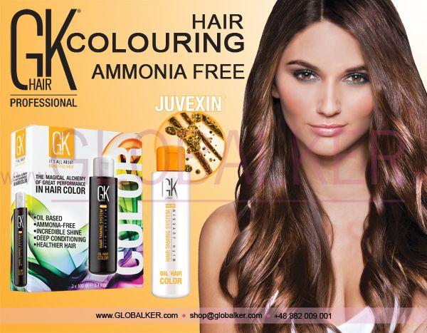 GK Hair colouring hair Global Keratin Juvexin