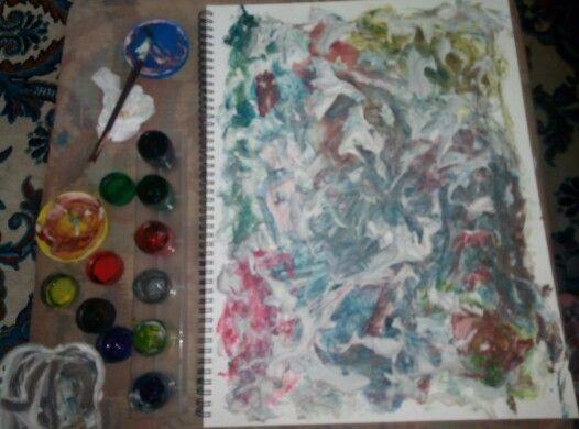 Foam painting
