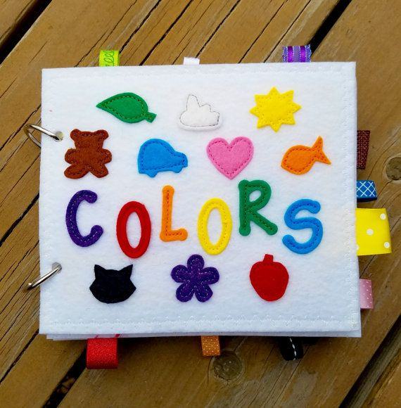 COLORS quiet book felt book/busy book with by AlwaysSewinSomethin