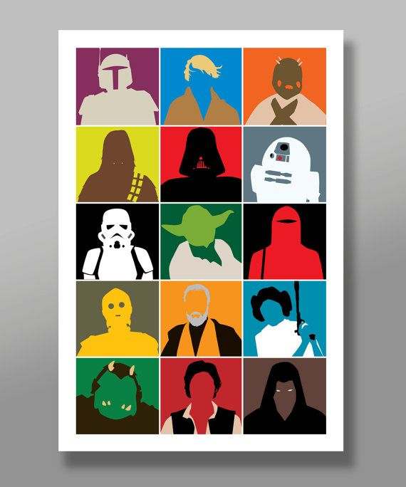 Star Wars Inspired Characters Minimalist Movie by BigTimePosters
