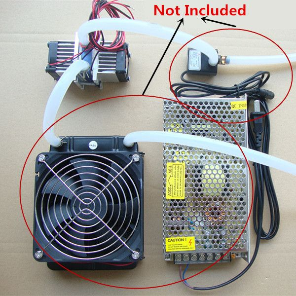 Diy Thermoelectric Peltier Refrigeration Cooling System Fan Kit Cool Stuff Cool Tech Gadgets Mechanical Projects