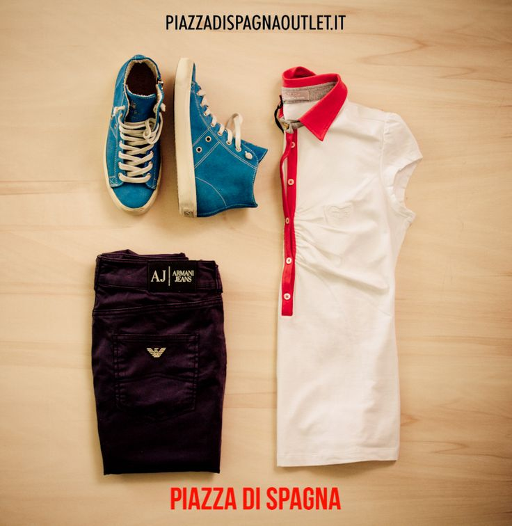 Outfit donna Polo Paciotti Pantalone Armani Jeans e Sneakers GoldenGoose