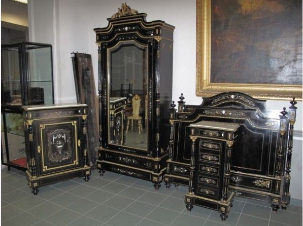 mobilier de chambre coucher napol on iii en marqueterie boulle co en vente aux ench res. Black Bedroom Furniture Sets. Home Design Ideas