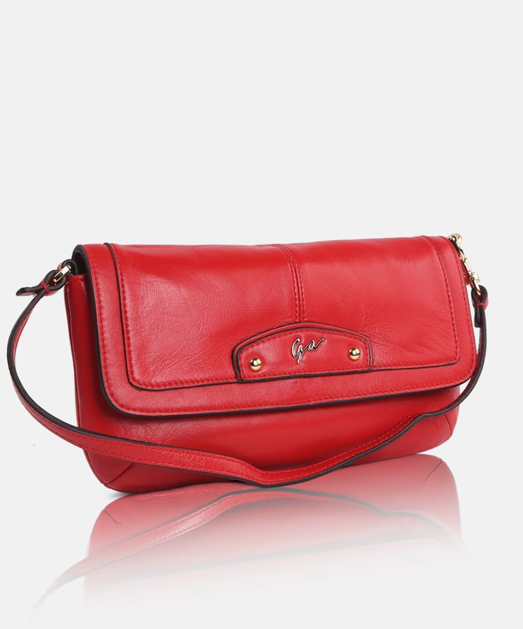 Giorgio Agnelli genuine #leather #clutches #handbag for #women GA 63011 Red -a chic classic design handbag-