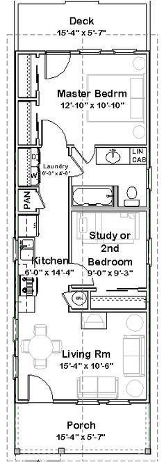 Shotgun house.... inside-wall-to-inside-wall clear space inside the rooms. What a functional floor plan -- no wonder these houses have remained so popular!