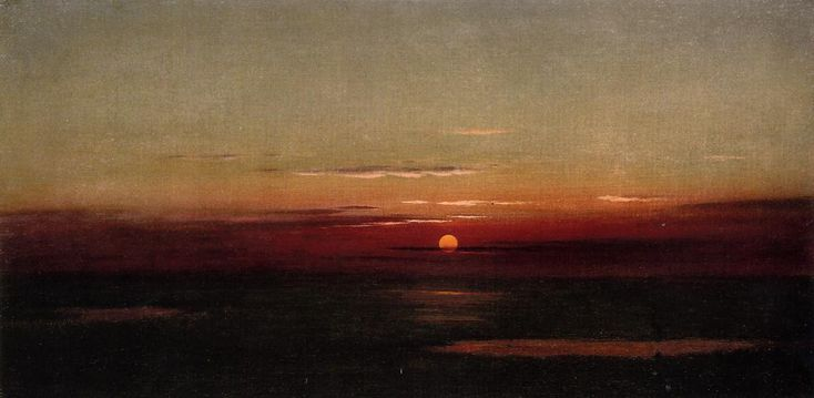 Sunset of the Marshes, Oil On Canvas by Martin Johnson Heade (1819-1904, United States)