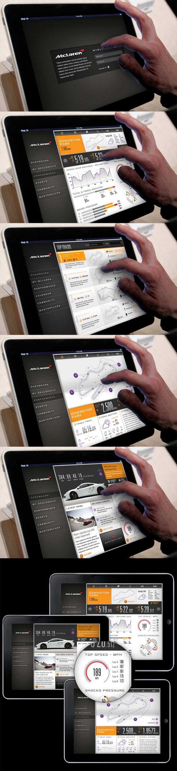 McLaren Automotive Connected Car by Thomas Moeller, via Behance