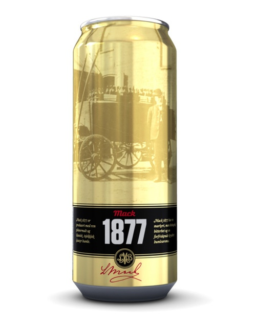 Mack Brewery's Mack 1877 pilsner in Rexam can