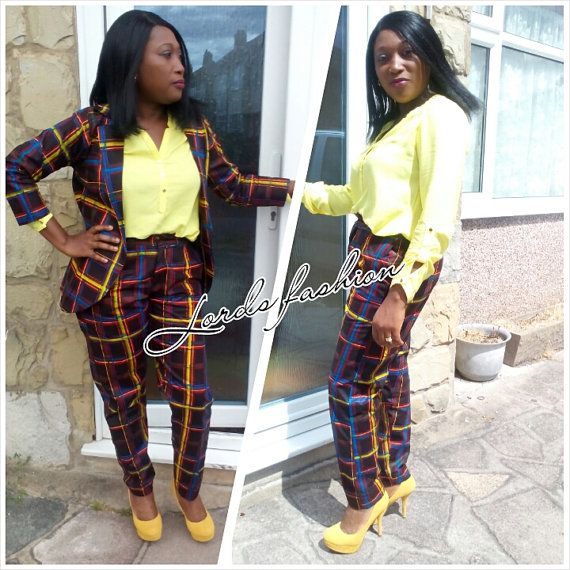 Ladies Trousers Suit African Print Trousers by Lordspringdesigns