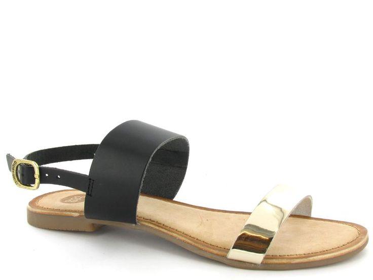 Zwarte met gouden sandalen van het merk Gioseppo, model Ciana €39,95 #sandalen #zomer #schoenen #shoes #gioseppo #sandals